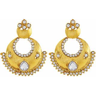 Asmitta Jewellery Gold Plated Gold Zinc Dangle Earrings For Women