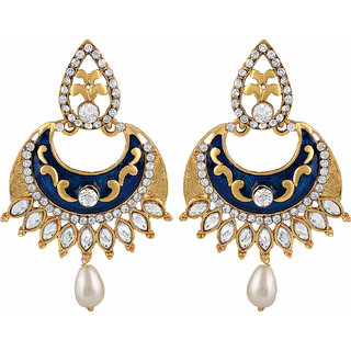 Asmitta Jewellery Gold Plated Gold Zinc Dangle Earrings For Women