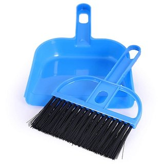 Evershine Gifts  Household Mini Dust pan with Brush Pack of 2 (Assorted Color)