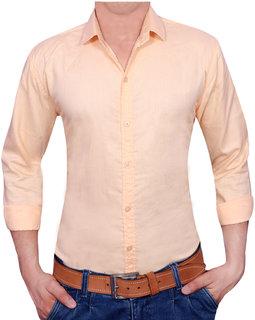 Acro Fly Orange Solid Shirt For Men