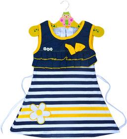 Prince  Princess Baby Girl's Denim look Cotton Dress