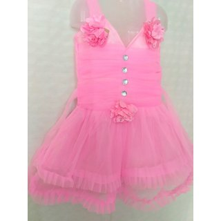 724f4c334489 Buy Baby Frock (PINK - Rose Pink Colour) Online   ₹169 from ShopClues