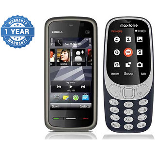 Nokia 5233 and Maxfone 3310 Combo / Good Condition / Certified Pre Owned (1 Year Warranty)