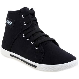 buy welldone black laceup canvas air mix sneakers/casual