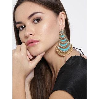 Zaveri Pearls Enamelling Mutiple Layered Chandbali Earring-ZPFK6706
