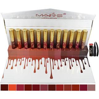 Mars Matte Liquid Lipstick B-shade With Free Laperla Kajal