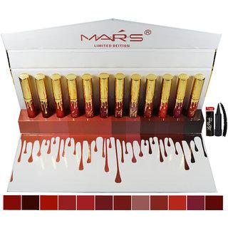 Mars Matte Liquid Lipstick C-Shade With Free LaPerla Kajal