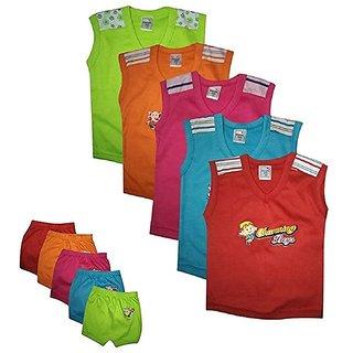 Maruthi kids Unisex sleeveless Top  bottom baby dress (6-9 months)