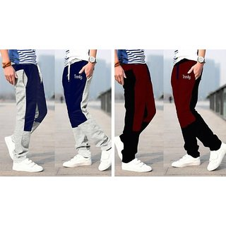Trendyz Multi-color Cotton Blend Stylish Track Pants For Men Pack of 2