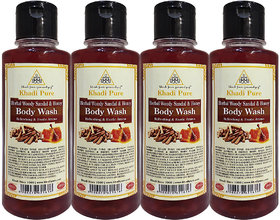 Khadi Pure Herbal Woody Sandal  Honey Body Wash - 210ml (Set of 4)
