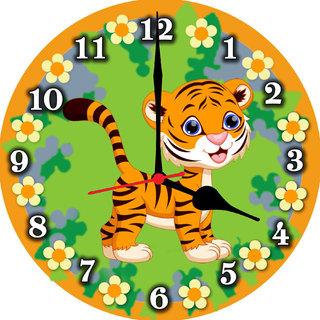 3d little tiger wall clock