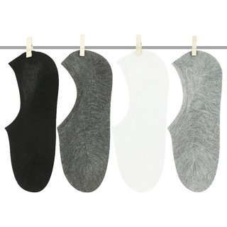 Neska Moda 8 Pair Unisex Multicolor Cotton No Show Loafer Socks S338