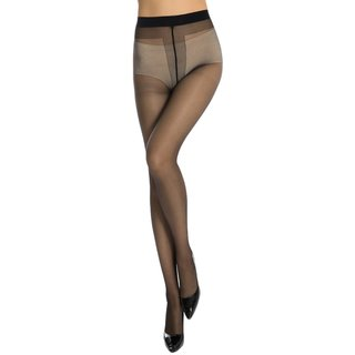 Neska Moda Women Black Panty Hose Long Comfort Stockings STK6