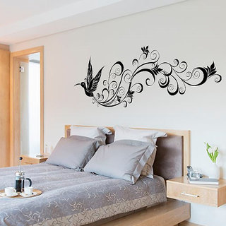 The Modern Bedroom Bird Silhouette Decorative Wall Stickers For Living Room Multicolor