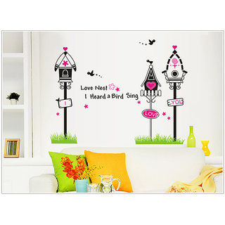 Love Bird Cage Wall Sticker - Multicolor