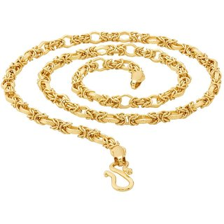 20' Inches Brass Gold Plated High Quality Chain for Men by Sparkling Jewellery