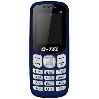 Q-Tel Q8 MOBILE PHONE 1.8 FEATURE PHONE FM RADIO 800mAh Dual Sim, BIS Certified, Made in India