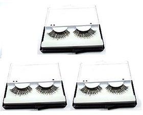 3 Pairs Black Sparse False Eyelashes Eye Artificial