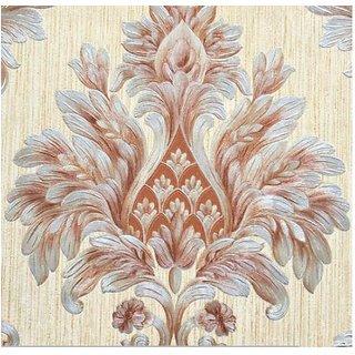 Style UR Home-3D Embossed Damask Wallpaper - Cream