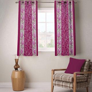 Sasha's Studio Set of 2 Designer Printed Window Curtains - Red