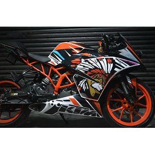 CR Decals KTM Rc Red Indian Kit (Rc125/200/390) for Bike - 10 inches(25.4 cm)