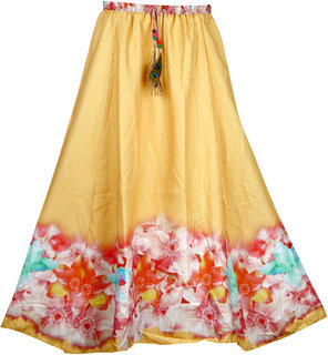 KHODAL CREATION Crepe Multi Color digital printed Women's Wear Stiched Skirt KCBC-25