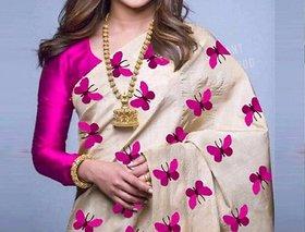 Bollywood style zarana silk embroidery saree with contrast bouse