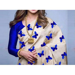 Bhuwal Fashion Zarana Silk Embroidered Saree With Blouse