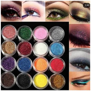 Imported 3D Glitter pigment Pack of 12 Pcs Multi Color Glitter