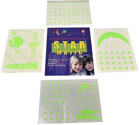 SNR Paper Magic Radium Glow Stars Sky Wall Sticker - 1 Pc