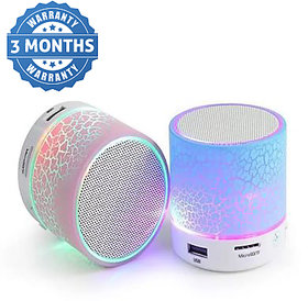 Multicolor S10 Mini Wireless Portable Plastic Bluetooth Speakers 3 Months Seller Warranty
