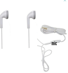 Earphone  (D1 White) Headphone  Universal of Smartphone