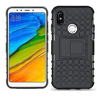 Redmi Note 5 Pro Armor Defender Hybrid Kick stand Back Case Cover