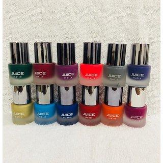 Juice Matte Nail Paint Set Of 12 Orted Colors