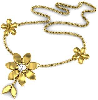 Avsar Real Gold and Diamond Pournima Necklece1