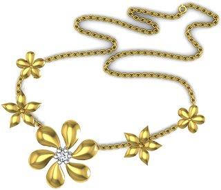 Avsar Real Gold and Diamond Kareena Necklece2