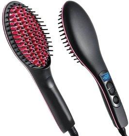 Hair Straightener Brush - Hair Straightener - SSMC4, Black