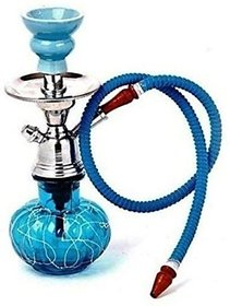 Designer Blue Glass Hookah By Hpa Set Of 1