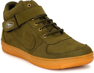 Brooke Men's Stylish Olive green lace-up Smart casual