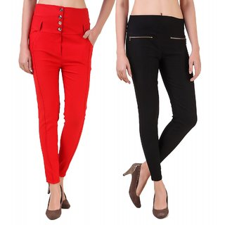 2f84c600689de Buy Imreyes Women's Multi Color Jeggings Pack of 2 Online @ ₹799 ...