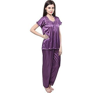Purple Colour XL Night Suit ,Night Dress For women