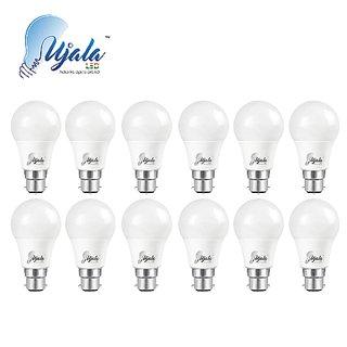 Ujala Led 7W High Beam Bulb - 120 Lumen/Watt, B22 Base (Aluminium), PC Diffuser, 2Year Warranty (Pack of 12)