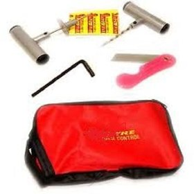Universal Bike and Car Tubeless Tyre Puncture Portable Repair Kit with plug, cutter and carry case