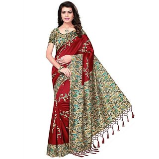 b219c8a7d6c74d Buy Indian Beauty Art Silk Blended Mysore Printed Women s Saree ...