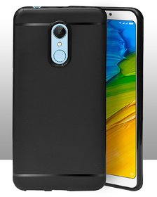 ECellStreet Protection Slim Flexible Soft Back Case Cover For Itel A44 / Itel A44 Pro - Black