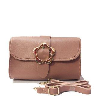 sling bag for girls (dark peach)