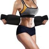 0a4cc3734e79f Waist Trimmer Fat Burner Belly Tummy Yoga Wrap Black Exercise Body Slim  Look Sweat Slim Belt Free Size (Unisex)