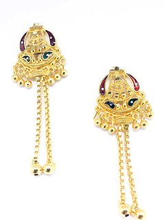 KRYSTAL GOLD plated jhumki EARRING
