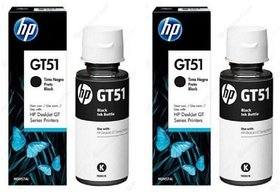 HP Ink GT51 Black Ink Pack Of 2 Single Color Ink(Black)