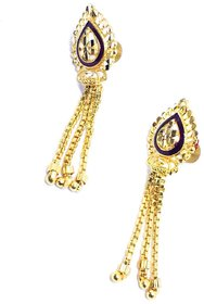golden jhumki earring for  girls and women